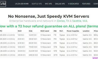 SpeedyKVM:达拉斯KVM $1.5/月 1核 256M  10G 10T  大流量VPS
