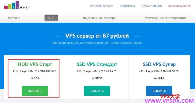 【不限流量VPS】JustHost:俄罗斯  新西伯利亚Adman机房 电信联通直连 美国vps永久使用KVM 最低8.9元/月 1核 512MB 200M不限流量插图(3)